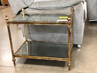 Antique Gold Small Side Table
