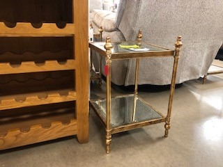 Antique Gold Lamp Table