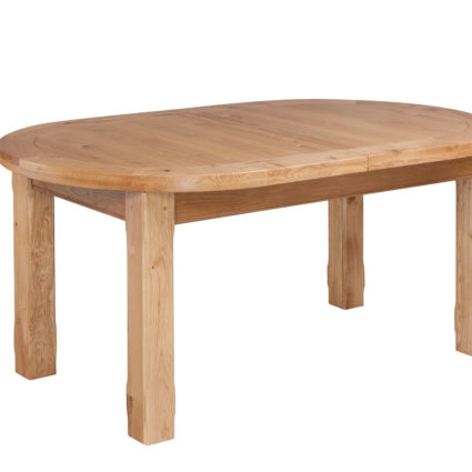 Hebden Solid Oak Oval Extending Dining Table