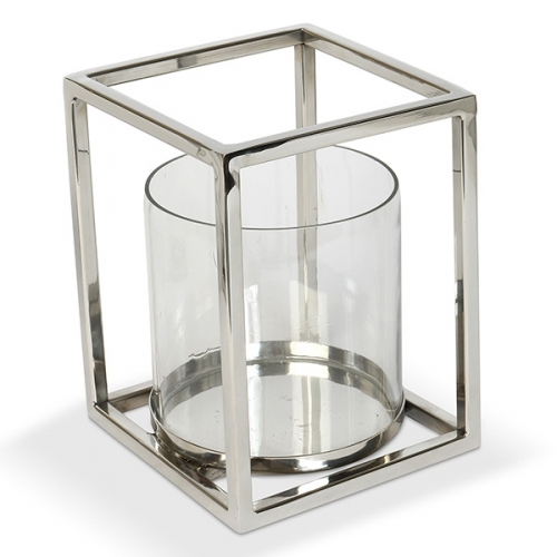 Large Geometric Hurricane Lantern