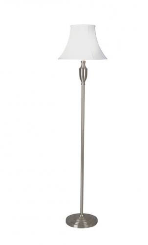 Vienna Floor Lamp Satin Chrome