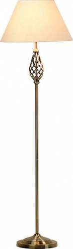 Barley Twist Floor Lamp Antique Brass