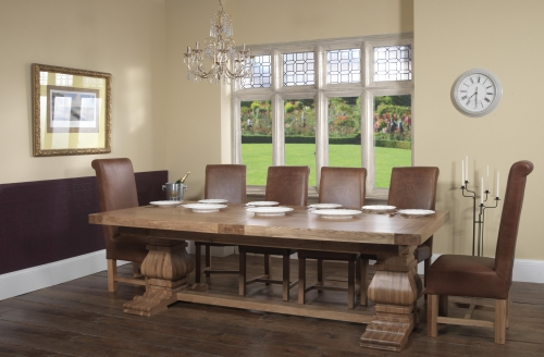 Grand Rustic Monastery 250 Large Dining Table