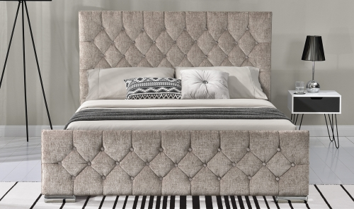 Sofia 5ft Upholstered Bed - Mink