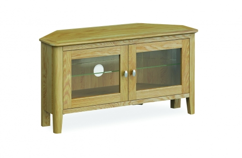 Harome Light Oak Corner TV Unit