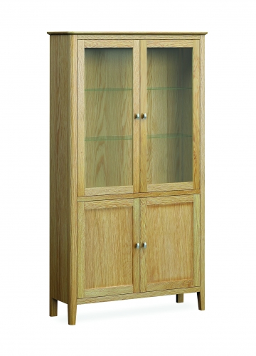 Harome Light Oak Display Cabinet