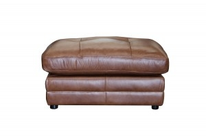 Orwell Leather Footstool