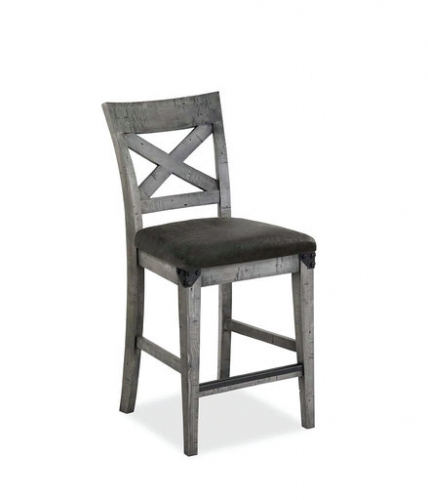 Seattle Industrial Cross Back Bar Chair