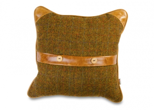 Belt & Button Cushion
