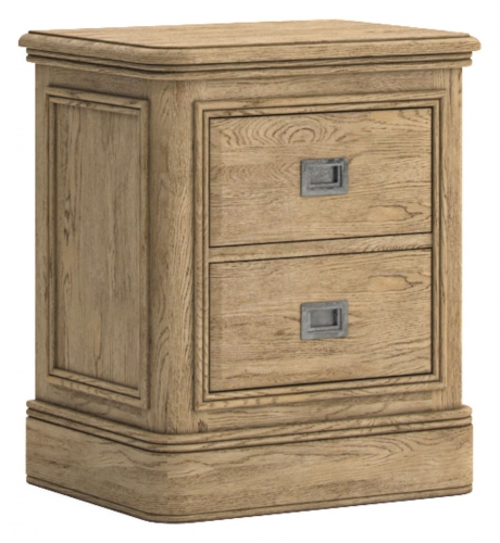 Sutton Rustic Waxed Oak 3 Drawer Bedside