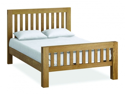Sutton Rustic Waxed Oak 6'0 Super King Size Bed