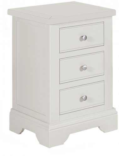 Ascott Grey 3 Drawer Bedside