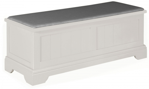 Ascot Painted Grey Ottoman