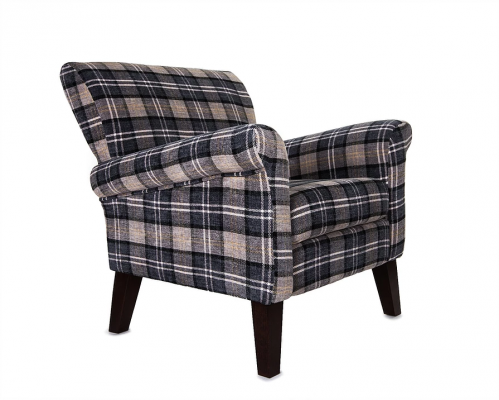 Brandsby Accent Chair - Silver Black