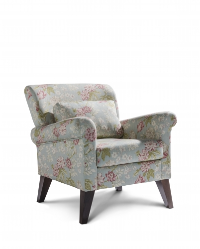 Malton Accent Chair - Campagna Duck Egg with Dark Legs