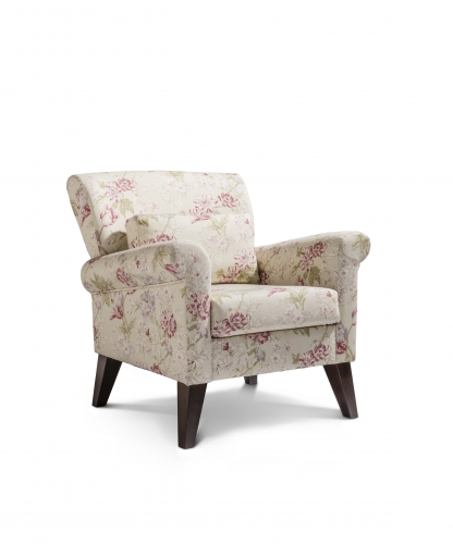 Malton Accent Chair - Campagna Rose with Dark Legs
