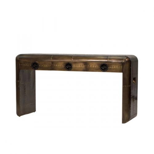 Aviator Console Table Vintage Jet Brass