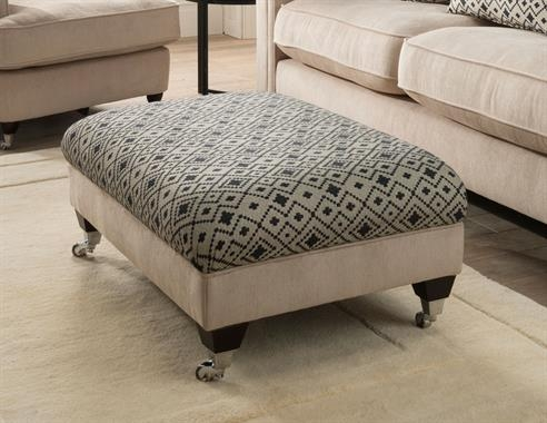 Bentley Fabric Storage Stool