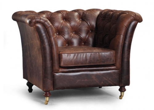 Caesar 1 Seat Leather Chair