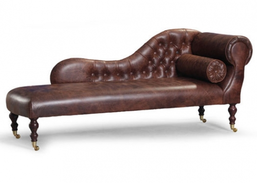Caesar Leather Chaise Long