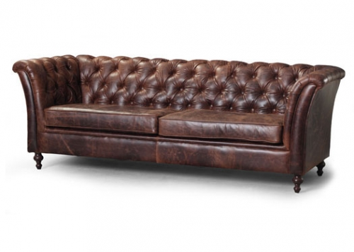 Caesar 3 Seater Leather Sofa