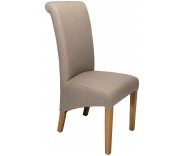Sorrento Smoke Fabric Roll Back Dining Chair
