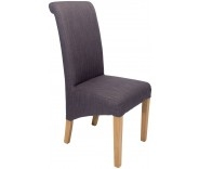 Sorrento Steel Fabric Roll Back Dining Chair