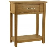 Malvern Oak 1 Drawer Console Table