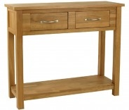 Malvern Oak 2 Drawer Console Table