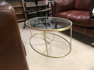 Grantley Gold Glass Coffee Table Furniture Traders Of Thirsk