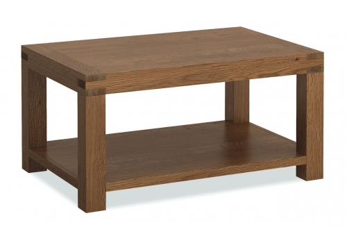 Sutton Rustic Waxed Oak Coffee Table