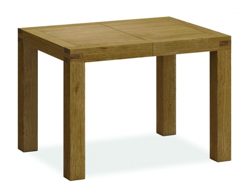 Sutton Rustic Waxed Oak Compact Extending Dining Table