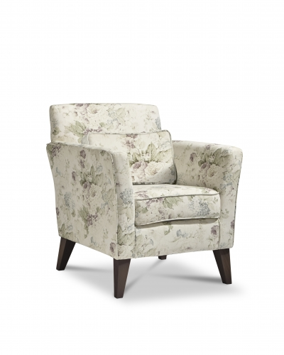 Chester Accent Chair - Constance Heather with Dark Legs