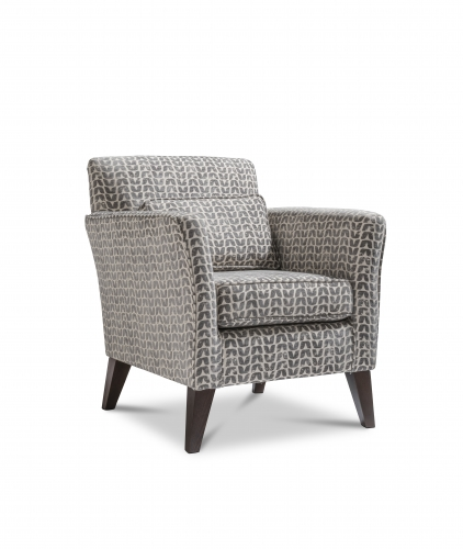 Chester Accent Chair - Isla Charcoal with Dark Legs