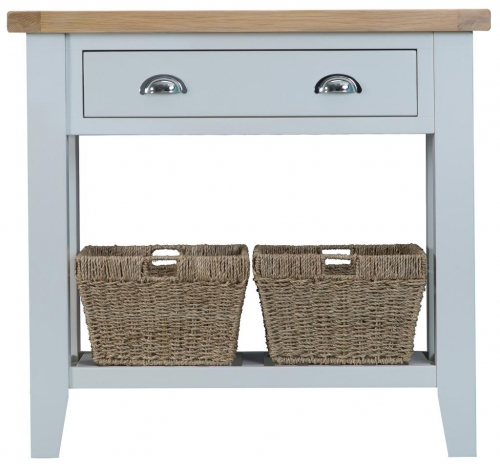 Thornton Painted Oak Grey Console Table