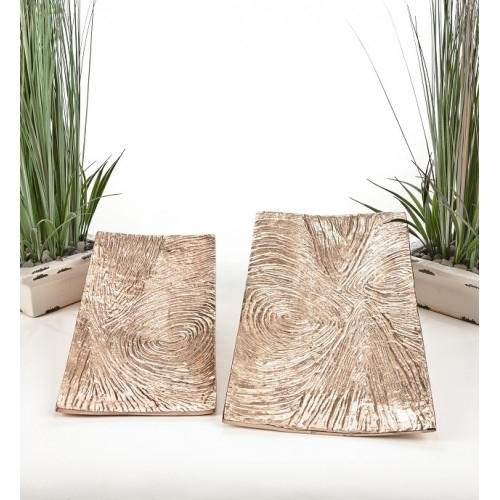 Copper Finish Trays set of 2