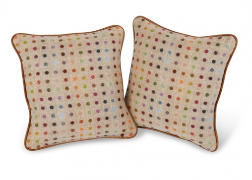 Small Fabric Piped Cushion