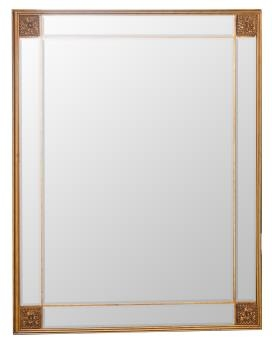 Rectangular Gold Frame Mirror