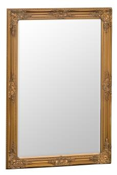 Gold Wooden Frame Beveled Mirror