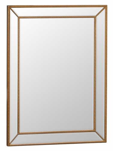 Rectangular Bevelled Gold Frame Mirror
