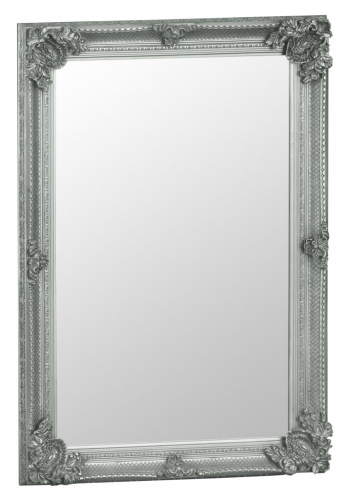 Rectangular Silver Frame Mirror