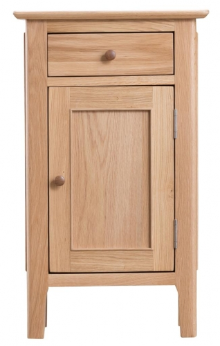 Newby Light Oak Small 1 Door Cupboard
