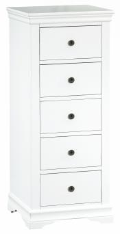Thirlby Classic Painted White 5 Drawer Wellington Chest