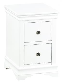 Thirlby Classic Painted White Bedside Cabinet