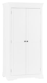 Thirlby Classic Painted White Full Hanging Wardrobe