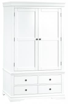 Thirlby Classic Painted White Gents Wardrobe