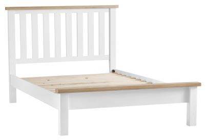 Thornton Painted White with Oak Top 6ft Bed
