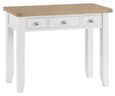 Thornton Painted White with Oak Top Dressing Table