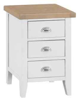 Thornton Painted White with Oak Top Large Bedside