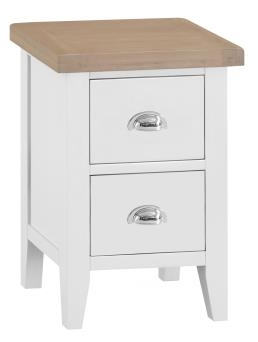 Thornton Painted White with Oak Top Small Bedside